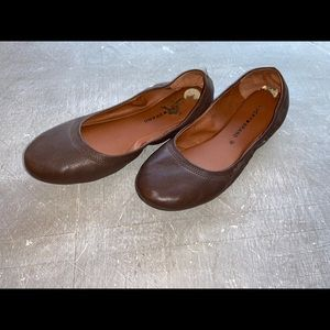 Lucky Brand Brown Leather Flats -10